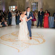 Dancin' into the weekend with this custom wedding monogram for Carolyn + Nick! You guys can dance on our monograms anytime you like ❤️ Happy weekend to all the dancin' machines! . . . #happyfriday #weddingmonogram #signaturedesign #monogramdancefloor  #southernwedding #receptiondecor #custommonogram #georgiabride #eventdecor
