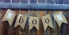 Fall and Halloween Burlap Banners!