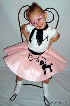 New 3pc Toddler Size LuLu Poodle Skirt Outfit Your choice of Size and Color 0-12,1t,2t,3t,4t. $50.99, via Etsy.