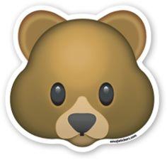Bear Face   Emoji Stickers Emoji Stickers, Tumblr Stickers, Laptop Stickers, Faces Emoji, Emojis Png, Emoji Painting, Bear Emoji, Emoji Drawings, Emoticons