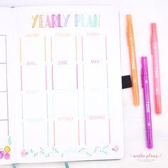 How To Set And Achieve Goals With Your Bullet Journal   Archer & Olive   In this blog post, I'm sharing how you can get started on the goal-setting process, which questions to ask yourself, and bullet journal layout plans for your month, quarter, and your year! #goalsetting #plannergoals #bujo