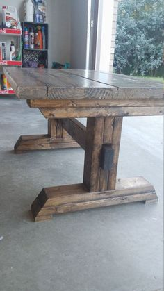 Kids Table, Kids Farm Table, Coffee Table, Mini Farm House Table is part of Farmhouse table This is a beautiful handmade coffee table to replicate a large farmhouse table Great to pull in your dini - Farmhouse Table Plans, Farmhouse Dining Room Table, Diy Dining Table, Kid Table, Rustic Table, Farm Table Plans, Outdoor Farmhouse Table, Outdoor Wood Table, Trestle Table Plans