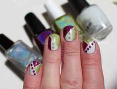 Fingers Polish Mania: Color Blocking with Liquid Sky Lacquer and Colors by Llarowe
