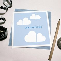 Love Clouds card / Love is in the air Gift Card  by izzybizzyME, $5.00