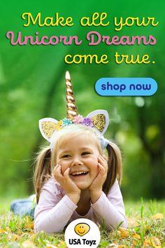 Unicorns are fantasy creatures that kids dream about. Enhance play pretend imagination as a unicorn princess. This flexible adult unicorn headband also fits comfortably as a unicorn headband for girls or boys. Unicorn Party Hats, Rainbow Unicorn Party, Unicorn Party Supplies, Unicorn Costume, Bulk Party Favors, Party Favors For Kids Birthday, Unicorn Birthday Parties, Birthday Ideas, Unicorn Horn Headband