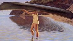 Alex Colville Alex Colville, Canadian Painters, Canadian Artists, East Coast Canada, Magic Realism, Galleries In London, Canoe And Kayak, Figure Painting, Kayaking
