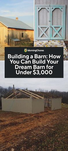DIY Horse Shelter Plans, Easy Barns Ideas and Horse Stall Images Farm Plans, Shed Plans, House Plans, Building A Fence, House Building, Building Ideas, Horse Barn Plans, Horse Shelter, Farm Projects