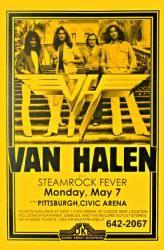 Van #Halen poster: 11'' X 17'' 1979 concert handbill-style Only $4.97