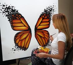 What is Your Painting Style? How do you find your own painting style? What is your painting style? Cute Canvas Paintings, Diy Canvas Art, Acrylic Painting Canvas, Diy Painting, Artist Painting, Art Paintings, Butterfly Painting, Butterfly Art, Butterflies
