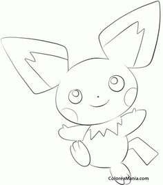 Colorear Pichu. Generation II Pokemon