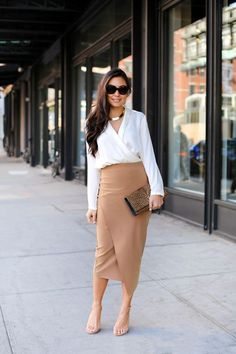 28 Timeless Pencil Skirt Outfits You Must See | Long leather skirt ...