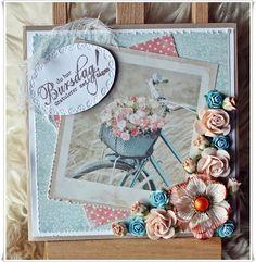 Scrappiness: Sommerlig bursdagskort.  Maja Design, Papirdesign, Kort&godt, Wild Orchid Craft, Summercard