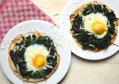 5 or less: Pita's met spinazie en ei