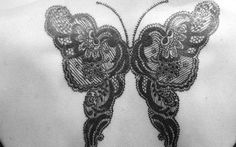 Lace Tattoos for Women | 35 Butterfly Tattoo Designs