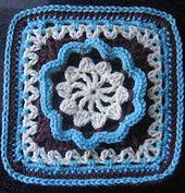 """Hermit 9"""" and 12"""" Afghan Block by Margaret MacInnis - free crochet pattern."""