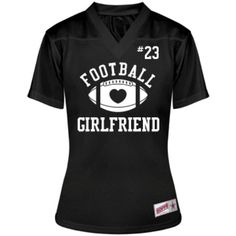 1739b3f6f Cute Football Girlfriend: Custom Junior Fit Soffe Replica Mesh Football  Jersey - Customized Girl Football