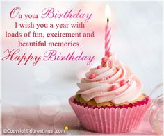 Find ideal and best happy birthday wishes, quotes and images for your loved ones. We have the best collection of wishes & quotes you can write in a birthday card. Happy Birthday Girls, Birthday Wishes Quotes, Best Birthday Wishes, Happy 1st Birthdays, Birthday Love, Card Birthday, Birthday Girl Quotes, Birthday Ideas, Birthday Gifts
