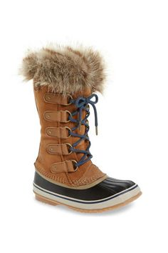 """The snow boots you need this winter!  The kind of """"boots with the fur"""" that T.Pain was referring to (we're sure of it) that are equipped to keep your feet toasty in even the negative degrees.   Sorel 'Joan of Arctic' Waterproof, $180; shop.nordstrom.com."""
