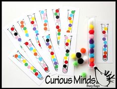 Tube Pattern matching Preschool Busy Bags by CuriousMindsBusyBags