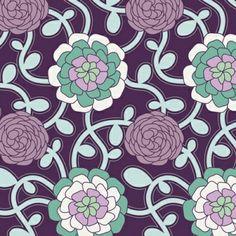 Art Gallery Fabrics :: Poetica :: Delicate Duet in Plum Moona Fabrics