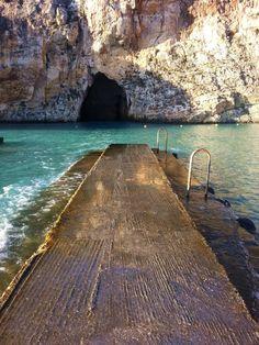 Inland Sea, Dwejra, #Gozo. #Malta, I've stood on this awaiting our boat ride ❤️