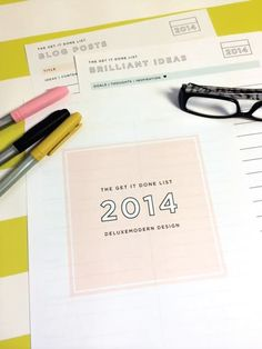 The Get it Done List - six pages of organizational bliss. 10.00 in the Dear Miss Modern shop.