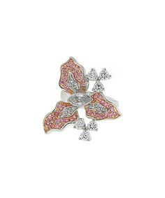 With a gorgeously sculpted flower and high-shine, durable band, this ring is set to stun for many occasions to come. Flower Rings, Pink White, Invitations, Flowers, Jewelry, Jewlery, Jewerly, Schmuck, Jewels