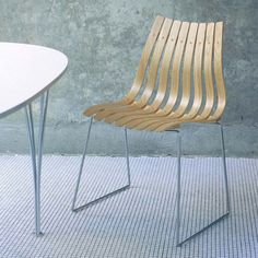 Scandia Junior, eik - Hans Brattrud 1957 - 2 stk Decor, Furniture, Scandia, Outdoor Decor, Room, Interior, Outdoor Chairs, Chair, Home Decor