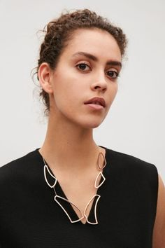 COS image 2 of Irregular shape necklace in Rose gold