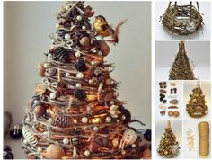 Creative Ideas - DIY Gorgeous Christmas Tree from Tree Branches | iCreativeIdeas.com Follow Us on Facebook --> https://www.facebook.com/iCreativeIdeas