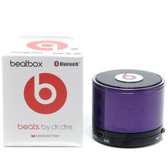 Dr Dre Beatsbox Portable Bluetooth Mini Speakers Purple for sale.At Our Store outlet gives you high quality Beats By Dre For Sale. Buying these Cheap Beats By Dre will enjoying the benefits we offered,which Beats By Dre Headphones are attractive and fashionable. - http://www.gobeatsbydre.com