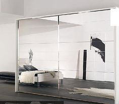 LIMONE - Contemporary wardrobe / wooden / with swing doors / mirrored by Nolte Bedroom Designs, Bedroom Ideas, Bedroom Decor, Mirrored Wardrobe, Mirror Door, Contemporary Bedroom, Dressing Room, Wardrobes, Condo