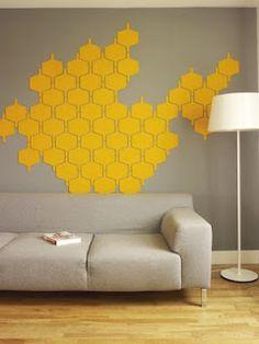 Felt wall tiles