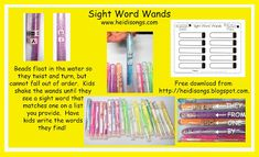 Here's a great new idea that I developed for my new session on Common Core Literacy Centers, and I have decided to call it Sight Word Wands!
