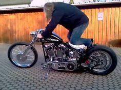 Harley Evo Bobber first Kickstart