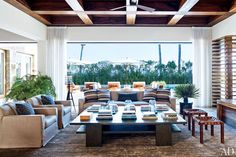 Oversized cocktail table concept - Cindy Crawford and Rande Gerber and Neighbor George Clooney's Side-By-Side Mexican Villas