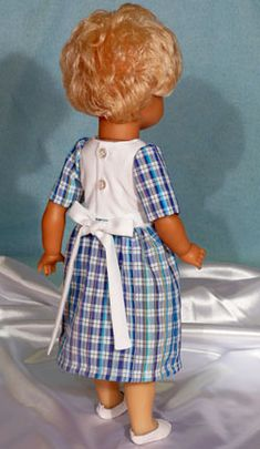 Propínací šaty skrátkým rukávem avazačkou :: We are Sewing for Dolls