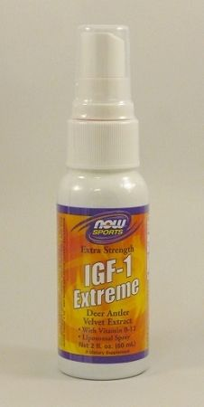 IGF-1 Extreme Deer Antler Velvet Extract Spray 2oz.  New Zealand Deer Antler Velvet Extract  with Vitamin B-12.  Liposomal Spray