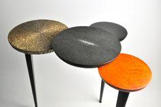 ginger brown furniture,shagreen table, organic design, design table,sidetable,craft