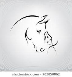 Portfolio of nutriaaa on Shutterstock - silhouette of the girl and the horse . - Portfolio of nutriaaa on Shutterstock – silhouette of the girl and the horse – - Horse Drawings, Animal Drawings, Girl Drawings, Silhouette Girl, Silhouette Images, Horse Tattoo Design, Tattoo Horse, Tattoo Designs, Horse Stencil