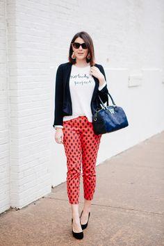 graphic tee + fun pants