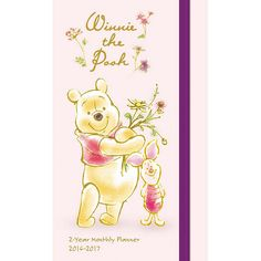 Winnie the Pooh Monthly Pocket Planner | $5.99 | Generations have embraced the magic of the Hundred Acre Wood. Winnie the Pooh is one of five Disney characters with a star on the Hollywood Walk of Fame. Spend the year with your friends from the Hundred Acre Wood. Pooh and Piglet are here in this huggable Winnie the Pooh Monthly Pocket Planner!
