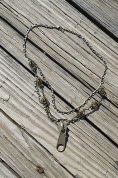 Zipper Necklace. $18.00, via Etsy.