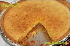 Gigi's Kitchen - My Blog on Cooking, Makeup, Fashion, Crafts and More: Lime Chess Pie Recipe