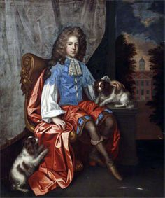 John Astley aged 13 with two King Charles spaniels circle of John Closterman (Osnabrück 1660 – London King Charles Dog, King Charles Spaniel, Cavalier King Charles, Cavalier King Spaniel, Spaniel Dog, European Costumes, Cute Dog Photos, Historical Art, Old Paintings