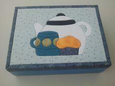 Caixa de chá! Mais opções em: www.facebook.com/apanopatchcolagem ou www.elo7.com.br/apanopatchcolagem