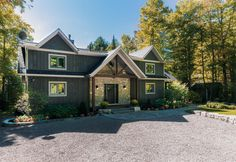 Linwood Homes, Stone Siding, Luxury Estate, Post And Beam, Navy Color, Estate Homes, Custom Homes, Beams, This Is Us