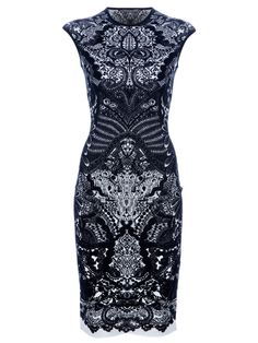 ALEXANDER MCQUEEN - Fitted Paisley Dress by farfetch