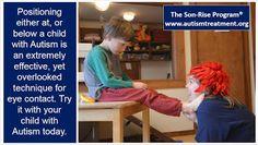 Vencer Autismo: Posicione-se para o contacto visual...