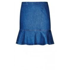 Dare to be different with your denim style this season with our Denim Flippy Skirt. This style features a fitted waist with zipper and concealed button on reverse and a fishtail hem.